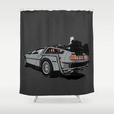 DeLorean Shower Curtain