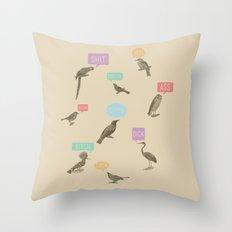 Fowl Language Throw Pillow