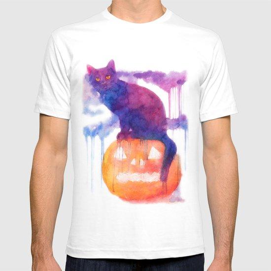Halloween cat T-shirt