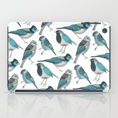 pale green birds iPad Case