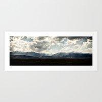 Bridgeport Valley (color) Art Print