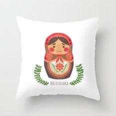 Matryoshka Doll Throw Pillow
