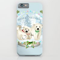 iPhone & iPod Case featuring Snow globe bears by Dawn Dudek