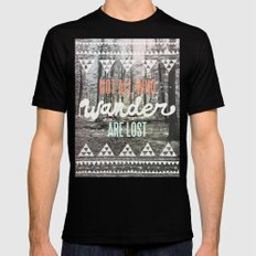 Wander Black Mens Fitted Tee SMALL