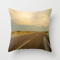 The Road Traveled Throw Pillow