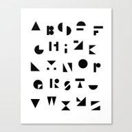 ABC Canvas Print