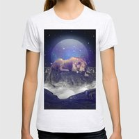 Under the Stars III (Leo) Womens Fitted Tee Ash Grey SMALL