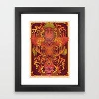 Burning Totem Framed Art Print