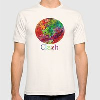 Color Theory Clash Mens Fitted Tee Natural SMALL