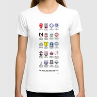 Alternate Football Teams Womens Fitted Tee White SMALL