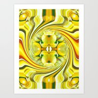 Lemon Swirl 2 Art Print