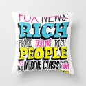 Fox News: Rich People, Poor People Throw Pillow