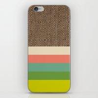 DIAMONDS & STRIPES 1 iPhone & iPod Skin