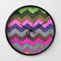 PATTERN {Chevron 002} Wall Clock