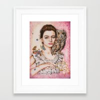 The Most Comfortable Mom… Framed Art Print