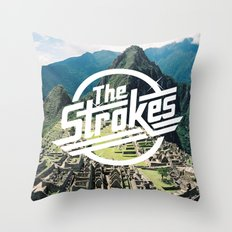 The Strokes Logo Machu P… Throw Pillow
