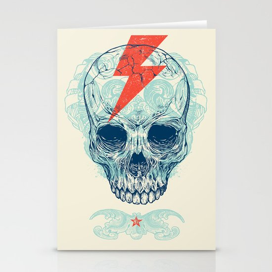 Skull Bolt Stationery Card