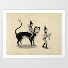 The Capture of the Beast Art Print