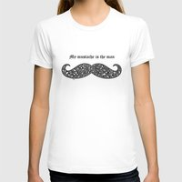 mustache T-shirts featuring Mustache by Rucifer