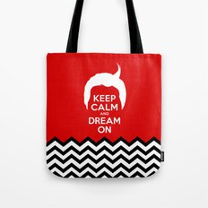 Keep Calm And Dream On (Dale Cooper's Hair, Twin Peaks) Tote Bag
