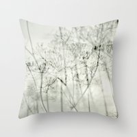 botanical abstract Throw Pillow