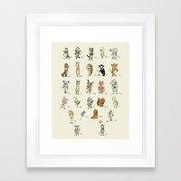 Animal Alphabet, English Framed Art Print