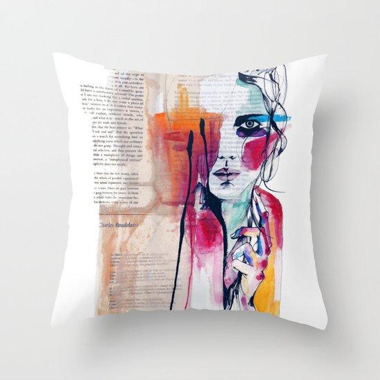 Sense V Throw Pillow