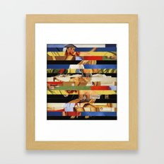 Glitch Pin-Up Redux: Jes… Framed Art Print