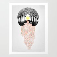 Through Darkness into the Light Art Print