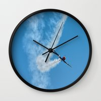 Air show with old military aircraft Wall Clock