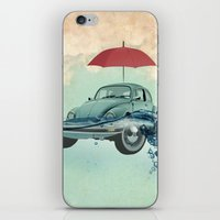 VW Chance of rain in deep water iPhone & iPod Skin