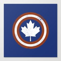 Captain Canada Canvas Print