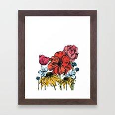 Floral V Framed Art Print