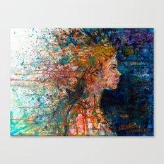 SOMEWHERE IN HER MUSINGS SHE BID FAREWELL Canvas Print