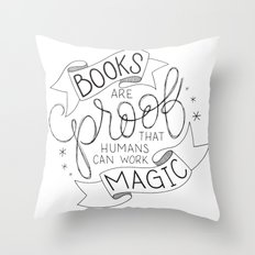 Books Are Magic Throw Pillow