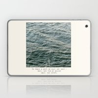 Set Sail (Franklin Delano Roosevelt Quote) Laptop & iPad Skin