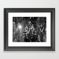 The Necromancer 2: Black… Framed Art Print