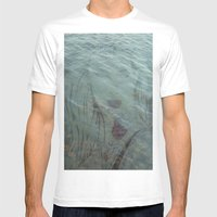 Lake Lady // Double Expo… Mens Fitted Tee White SMALL