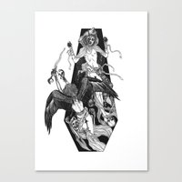 Inverted Coffin Canvas Print