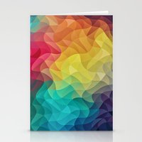 Abstract Color Wave Fla… Stationery Cards