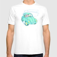 We're Doing Donuts!  Mens Fitted Tee White SMALL