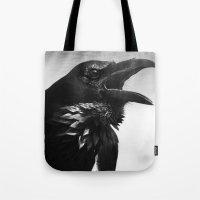 Pied Crow Tote Bag