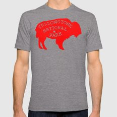 Yellowstone National Par… Mens Fitted Tee Tri-Grey SMALL