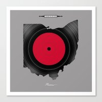 OHIO 33⅓ rpm LP Record Canvas Print