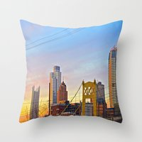 Sunset From The Southsid… Throw Pillow