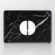 Black Marble - Alphabet O iPad Case