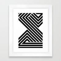 Starlines 03. Framed Art Print