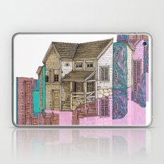 glitch house illustration Laptop & iPad Skin