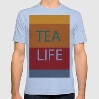 tea Mens Fitted Tee Athletic Blue SMALL