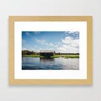 House On Water Framed Art Print